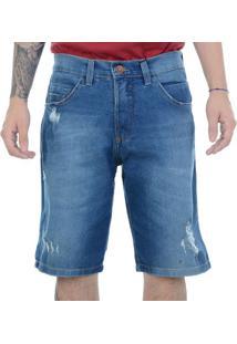 Bermuda Jeans Hd Walk Azul / 42