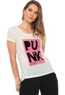 Camiseta Jdy Punk Off-White