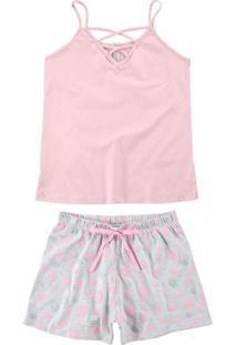 Pijama Rosa Claro Strappy