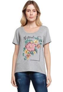 Camiseta Grupo Avenida Natural Feminina - Feminino-Cinza