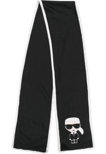 Karl Lagerfeld Echarpe 'K/Ikonik' - Preto