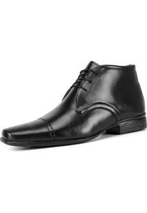 Bota Sapato Social Sw Shoes Bico Fino Preto