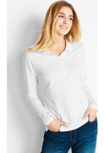 1c5125870b Posthaus. Camisa Pólo Em Malha Piquê Branco