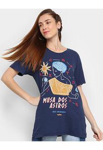 Camiseta Cantão Musa Dos Astros Manga Curta Feminina - Feminino
