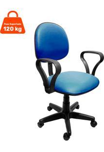 Cadeira De Escritório Secretária Mazikeen Ii Ajustável Azul