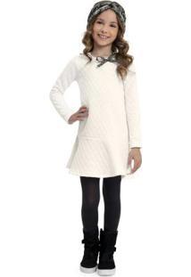 Vestido De Inverno Infantil Bege