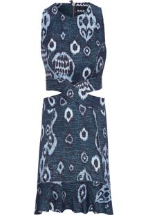 Vestido Ikat - Azul