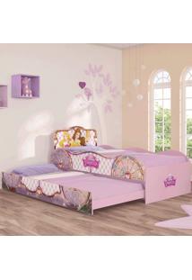 Bicama Infantil Princesas Original Disney Fun Rosa Pura Magia