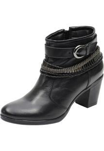 Bota Escrete Ankle Boot Preto