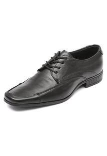 Sapato Social De Amarrar Em Couro Bico Alongado D'Mazons