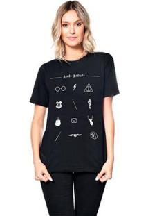 Camiseta Icons Useliverpool Feminina - Feminino-Preto