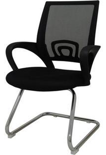 Cadeira Office Santiago Fixa Em Nylon Preto - 27697 Sun House