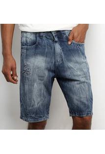 Bermuda Tbt Jeans Rasgada Masculina - Masculino
