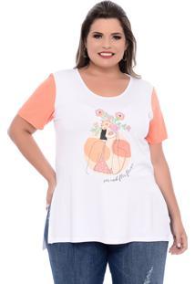 T-Shirt Domenica Solazzo Florescer Plus Size