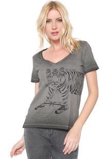 Camiseta Puc Dzarm Tigre Grafite