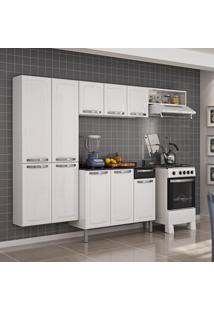 Cozinha De Aço Completa Rose Com Balcão 10 Portas Branco/Preto - Itatiaia