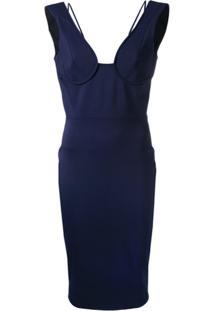 Victoria Beckham Vestido Midi - Azul
