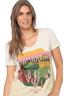 Camiseta Cantão Diamantina Bege