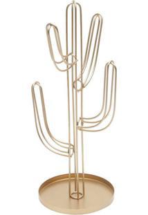 Enfeite Cactus Dourado 31X13X13