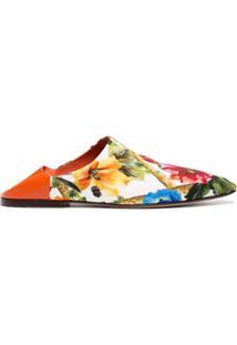Dolce & Gabbana Sapato Mule De Couro - Estampado