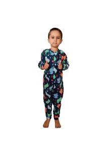 Pijama Macacão Infantil Soft Dinossauro Tamanho 10,12,14,16 Verde