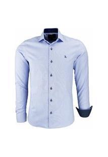 Camisa Social Amil Microxadrez 1660 Azul Bebê