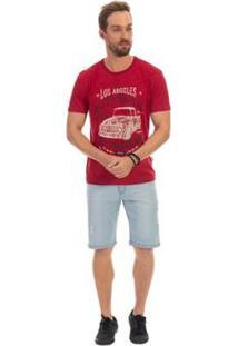 Bermuda Dioxes Jeans Cintura Média Masculina - Masculino-Azul