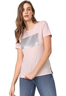 Camiseta Calvin Klein Foil Rosa