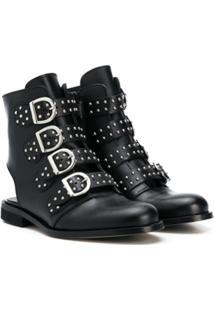 Gallucci Kids Studded-Straps Ankle Boots - Preto