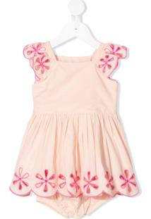 Stella Mccartney Kids Vestido Com Bordado Floral - Rosa