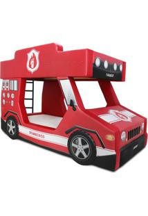 Beliche Bombeiro - Cama Carro Vermelha - Vermelho - Menino - Dafiti