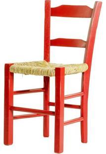 Cadeira Lagiana Pequena Eucalipto Vermelho Palha - 31279 - Sun House