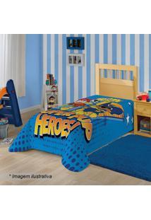 Manta Fleece Solteiro Patrulha Caninaâ®- Azul & Amarela