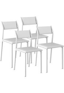 Cadeira 1709 Cromada 04 Unidades Napa/Branca Carraro