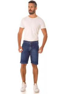 Bermuda Jeans Express Melck Masculina - Masculino-Azul