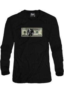 Casaco Moletom Skull Clothing Dollar 2Pac Masculino - Masculino-Preto