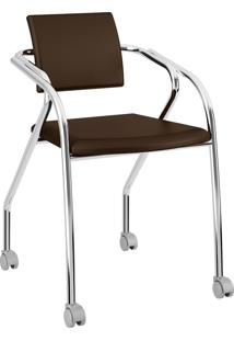 Cadeira 1713 Caixa Com 1 Napa Móveis Carraro Marrom