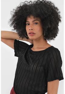 Camiseta Lança Perfume Tule Preta