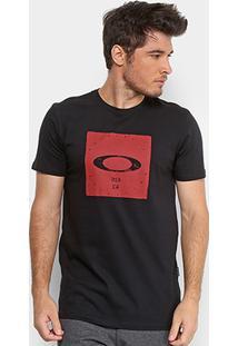 4cf71490cb Camiseta Oakley Mod Bolded Elipse Masculina - Masculino-Preto