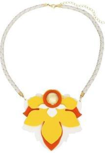 Colar Le Diamond Flor - Feminino-Amarelo