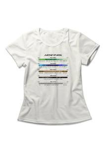 Camiseta Feminina Anatomy Of Metal Off-White
