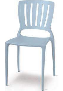 Cadeira Sofia Vazado Vertical Polipropileno Azul - 19514 - Sun House
