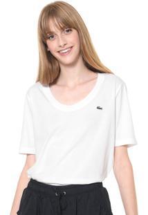 Camiseta Lacoste Lisa Branca