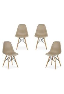 Kit 04 Cadeiras Decorativas Lym Decor Eiffel Charles Nude