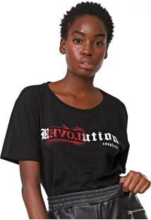 Camiseta Cavalera Revolution Preta