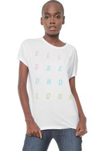 Camiseta Ellus 2Nd Floor Fine Esf Letters Branca
