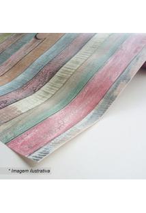Papel De Parede Rio- Rosa & Azul- 45X300Cm- Grudgrudado
