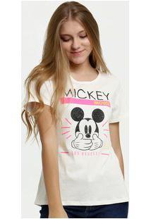 Blusa Juvenil Botonê Neon Estampa Mickey Disney