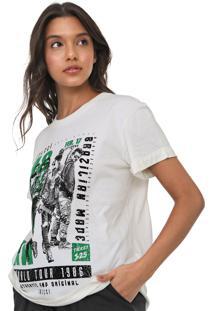 Camiseta Colcci Estampada Off-White - Off White - Feminino - Algodã£O - Dafiti