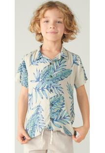 Camisa Infantil Menino Estampada Tropical